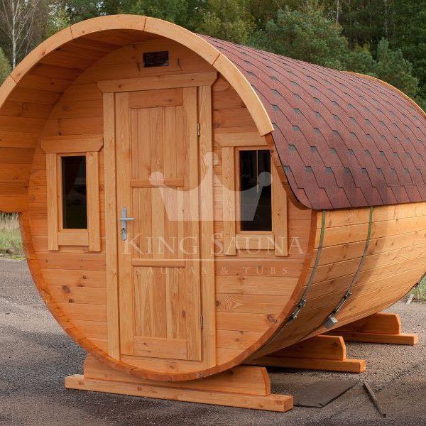 "Build yourself! ""ROUND"" Barrel Shape Sauna"