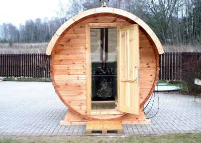"Build yourself! ""ROUND"" Barrel Shape Sauna"