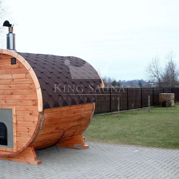 "Mini ""Round"" Sauna 2.24m x 2.1m without dressing room"