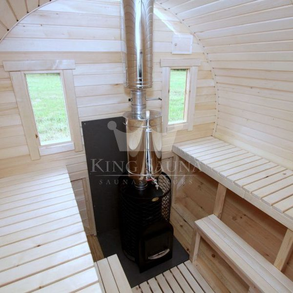 """ROUND"" sauna 4.24m x 2.38m with panoramic window"