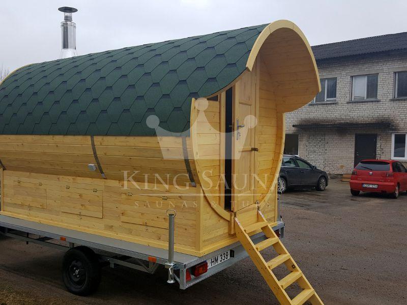 mobile sauna x on a trailer saunas hot tubs. Black Bedroom Furniture Sets. Home Design Ideas