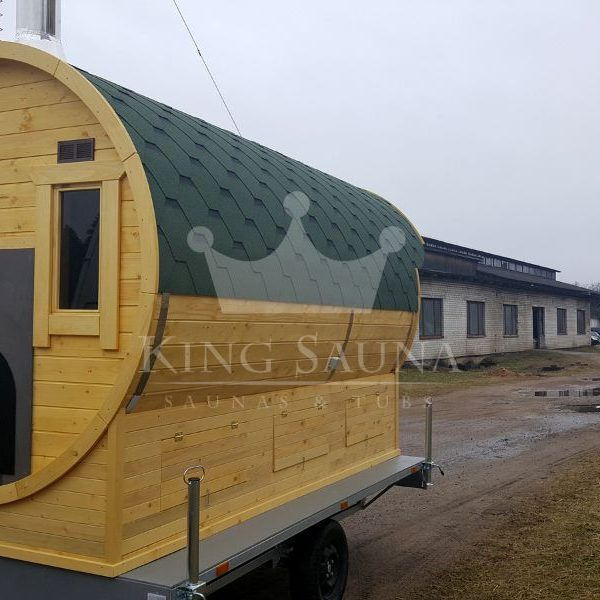 """MOBILE"" sauna 3.5m x 2.1m on a trailer"