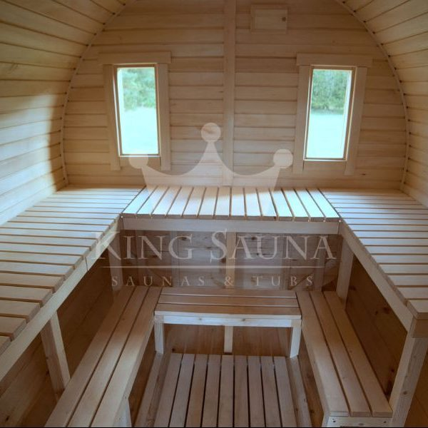 """ROUND"" Sauna 5.25m x 2.38m with side entrance"