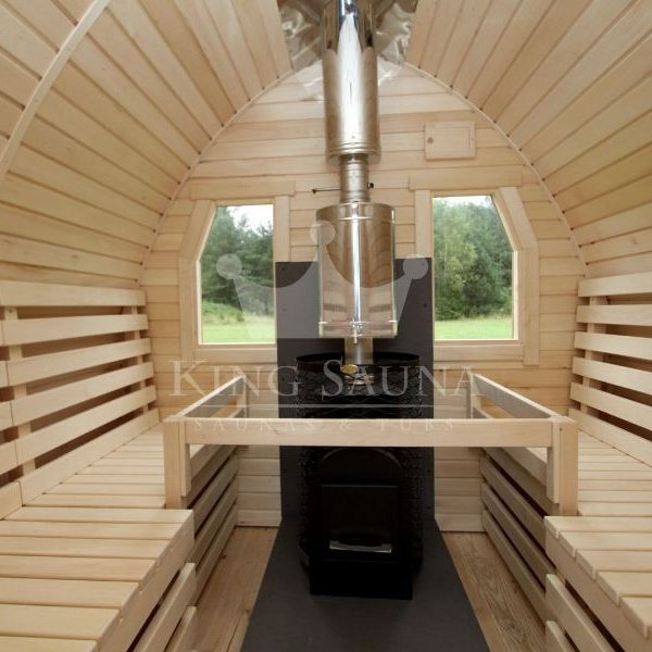 """IGLOO"" shape outdoor sauna barrel for six people"