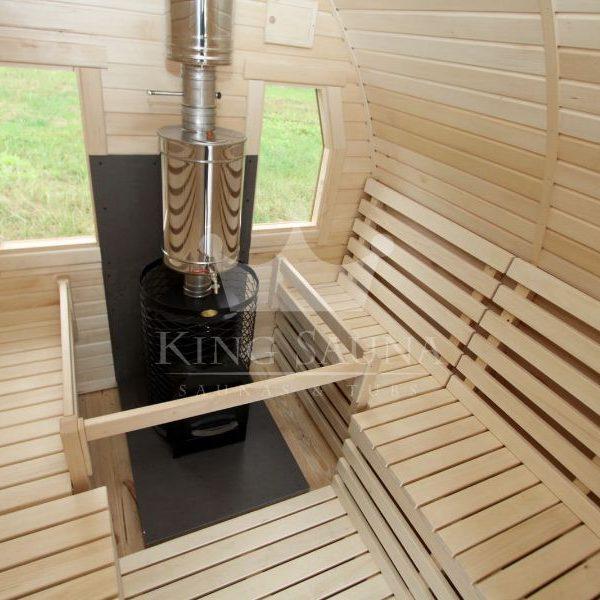 """""""IGLOO"""" shape outdoor sauna barrel for six people"""