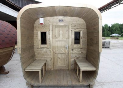 Build yourself! Square shape sauna!