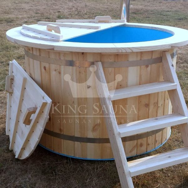 """PLASTIC"" hot-tub 1.8m with fir wood decoration"