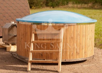 """GLASS FIBER"" Hot-tub with external furnace"