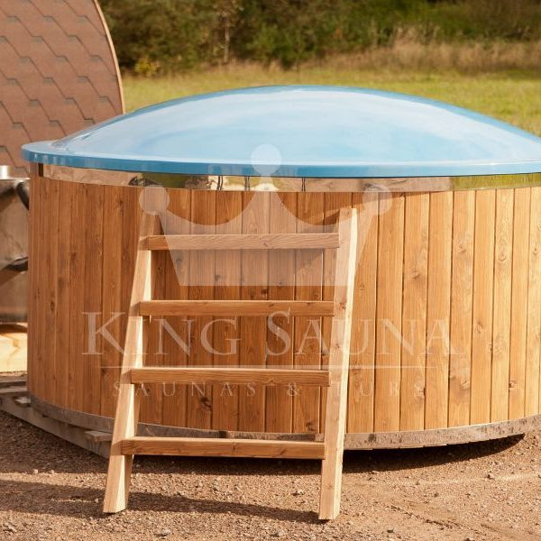 """GLASS FIBER"" Hot-tub with external furnace"