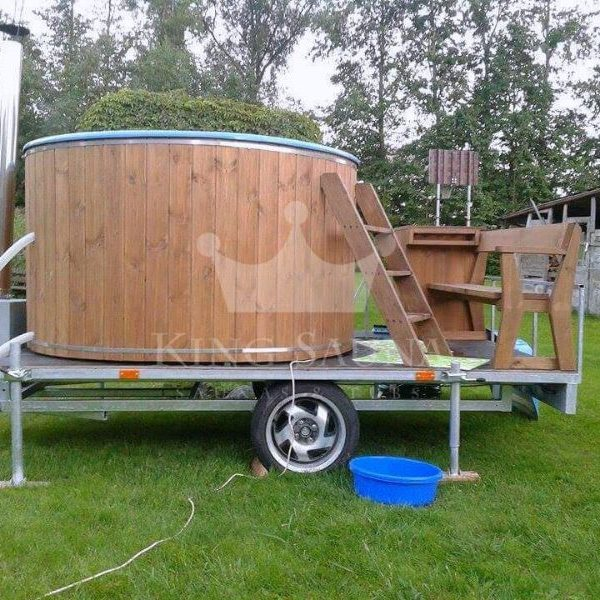 """MOBILE"" hot-tub with a trailer"